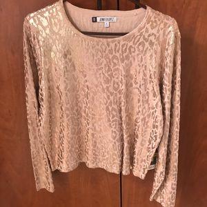 Rose gold leopard sweater